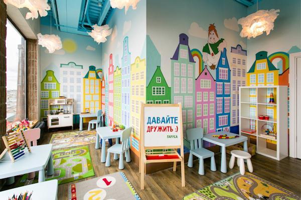 "Детская комната в в ""Парусах на крыше"""