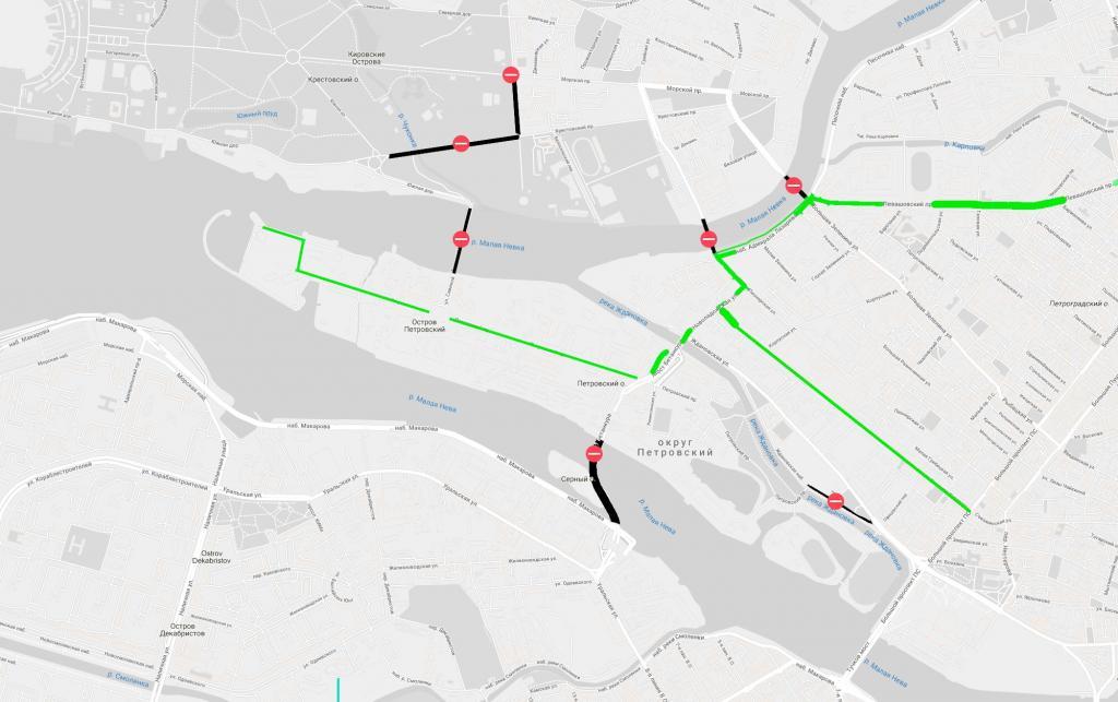 Карта проезда в ресторан «Паруса» в период ЧМ по футболу.